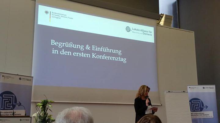 """Mayday  auf der Fachkonferenz """"Leben mit Demenz in der Kommune – Vernetztes Handeln vor Ort""""."""