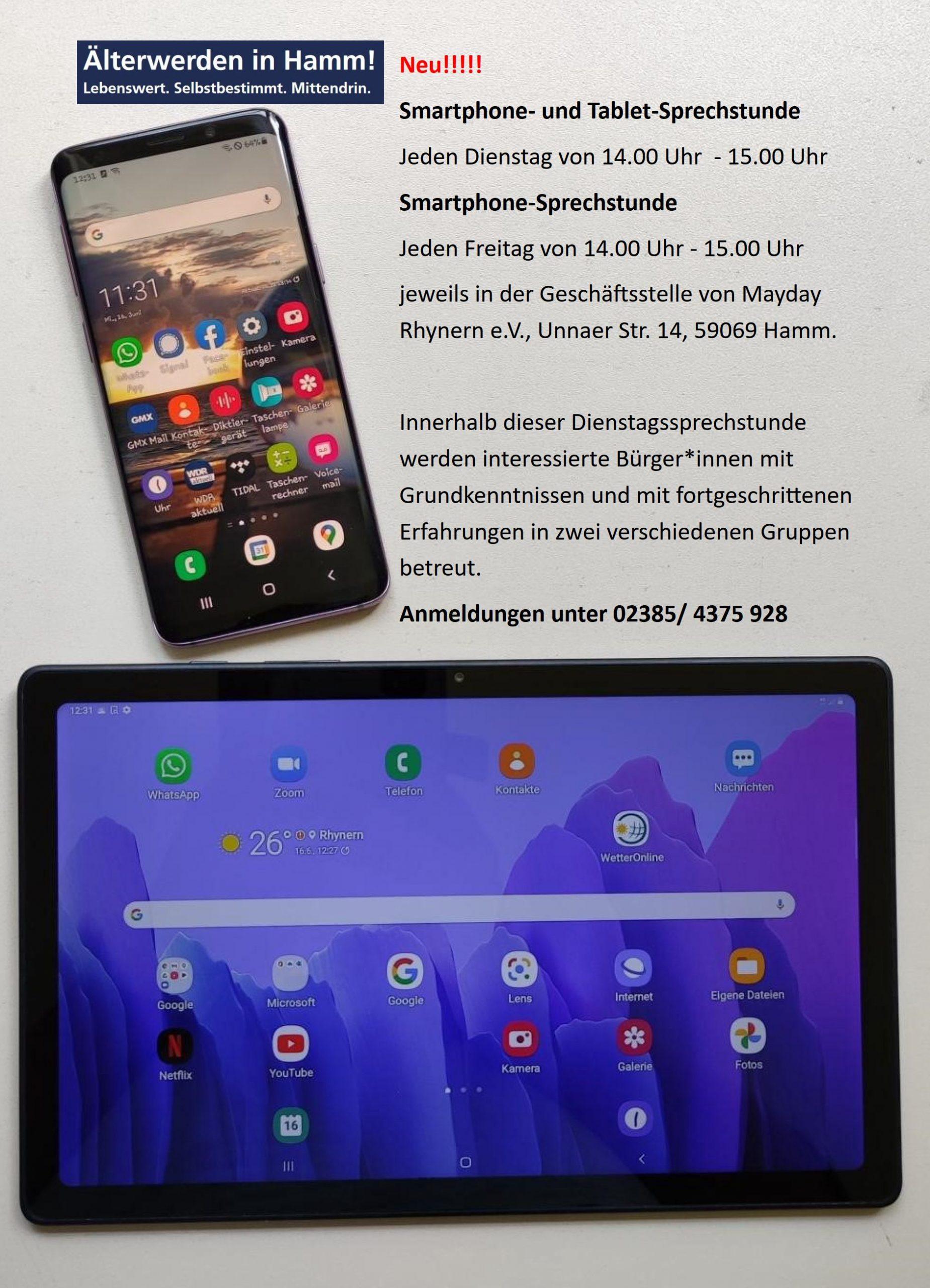 Smartphone-und Tablet-Sprechstunde 60+